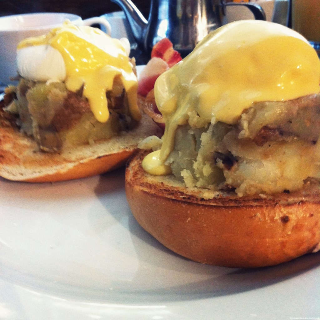 New Jersey Moose Eggs Benedict at Moose Coffee Liverpool