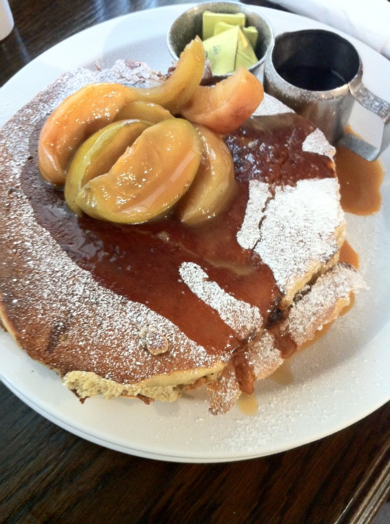 Cinnamon Apple and Salted Caramel Pancakes at Moose Coffee Liverpool