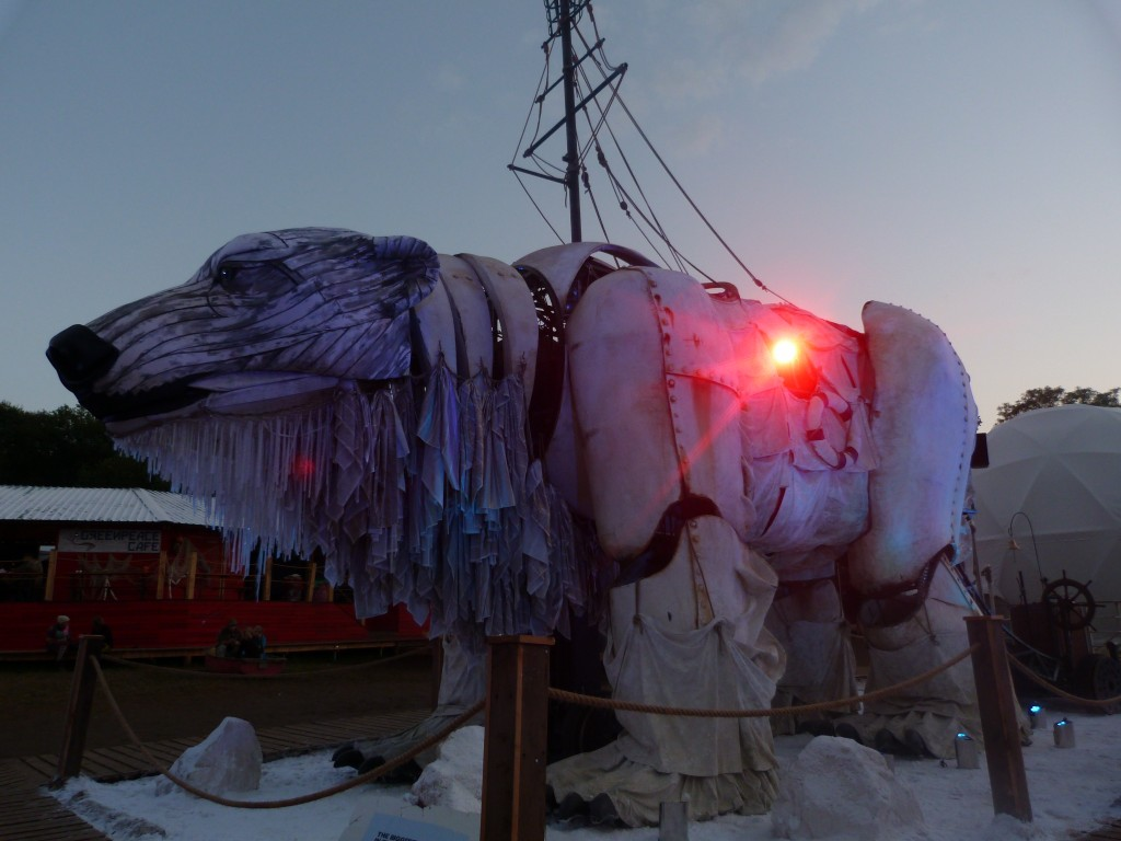 Aurora Greenpeace Save the Arctic Polar Bear Glastonbury