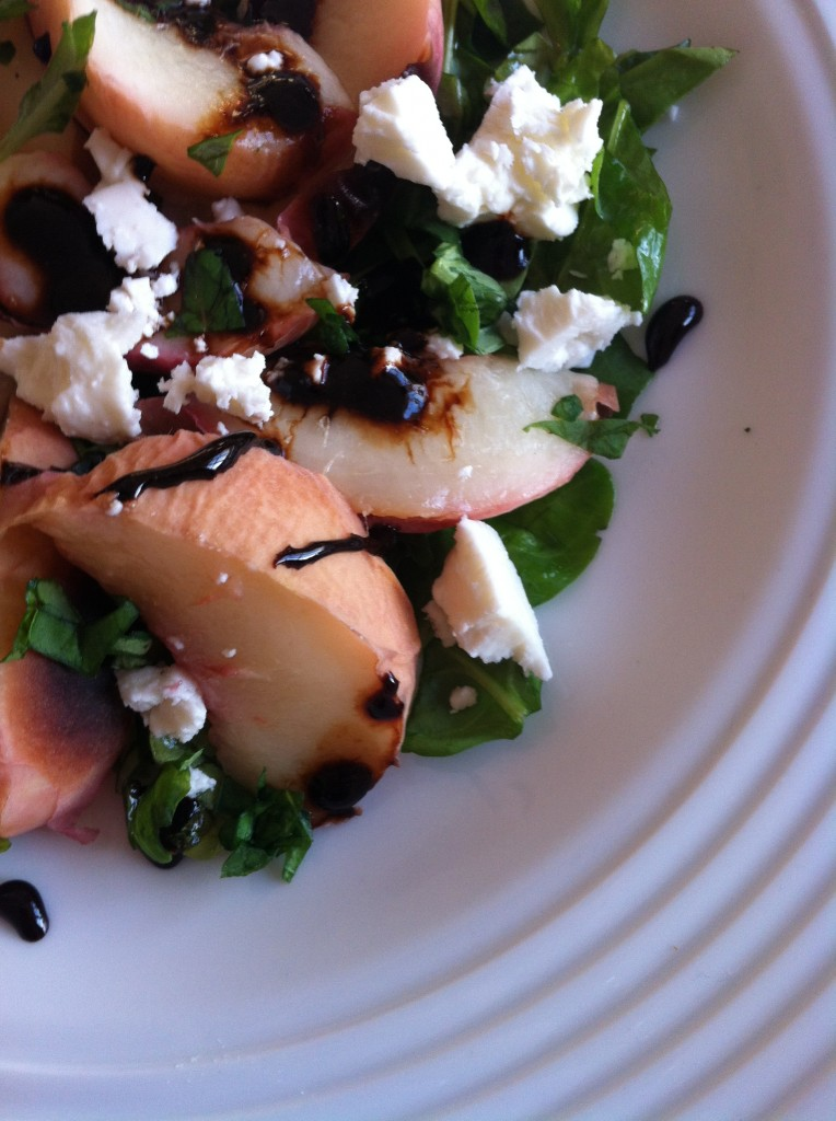 Peach Recipes - Grilled Peach and Feta Salad