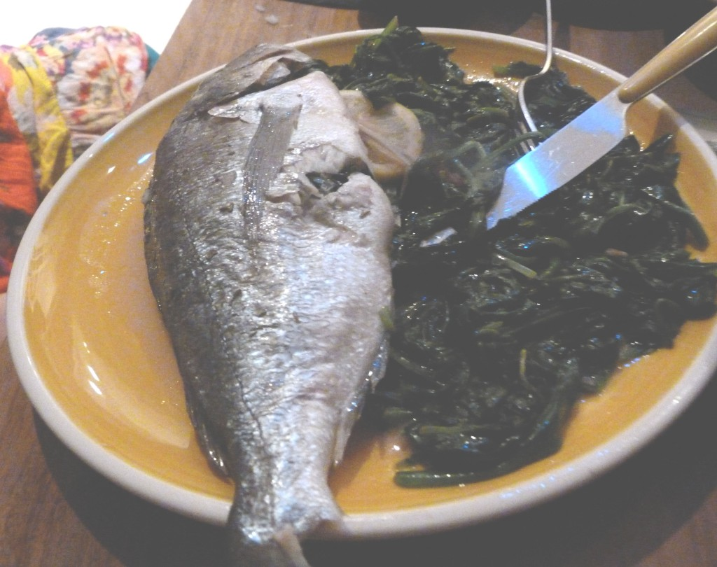 seafood - baked sea bream